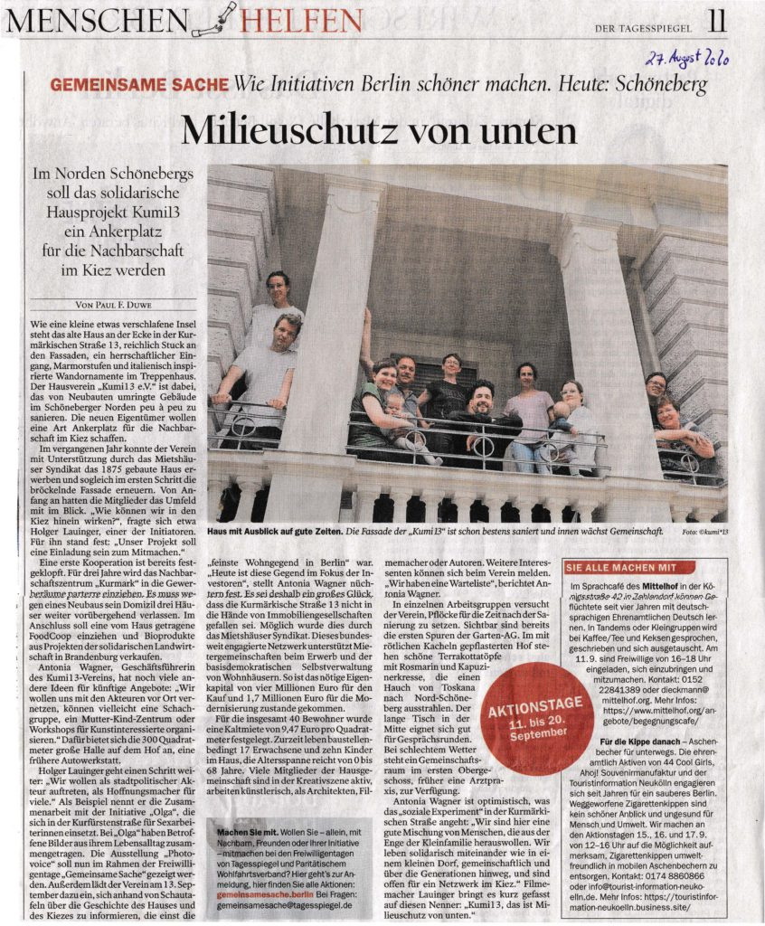 Tagesspiegel, 27.08.2020